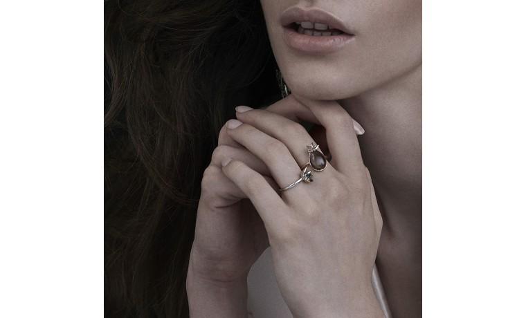 Smokey sparkle Ring